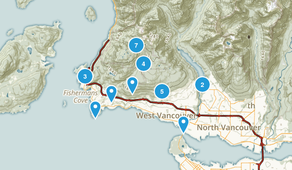 West Vancouver, British Columbia Forest Map