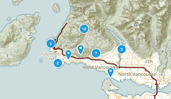 West Vancouver, British Columbia Walking Map