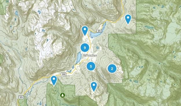 Whistler, British Columbia Birding Map