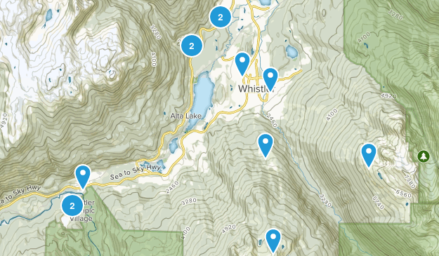 Whistler, British Columbia Kid Friendly Map