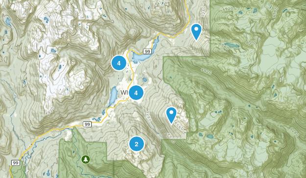 Whistler, British Columbia Lake Map