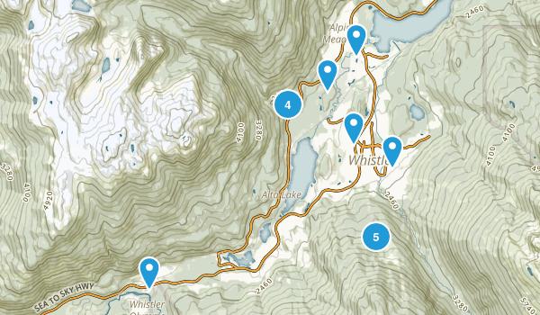 Whistler, British Columbia Mountain Biking Map
