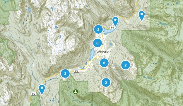 Whistler, British Columbia Walking Map