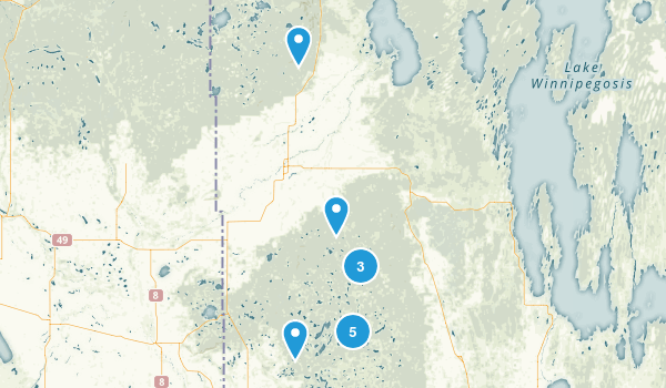 Division No. 20, Manitoba Snowshoeing Map