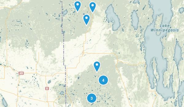 Division No. 20, Manitoba Trail Running Map