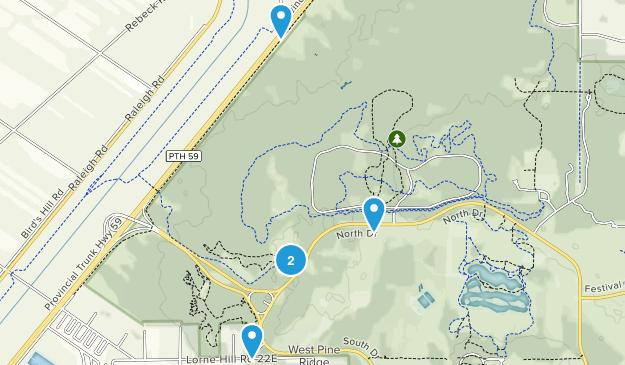 Gonor Station, Manitoba Hiking Map
