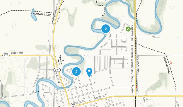 Swan River, Manitoba Dogs On Leash Map