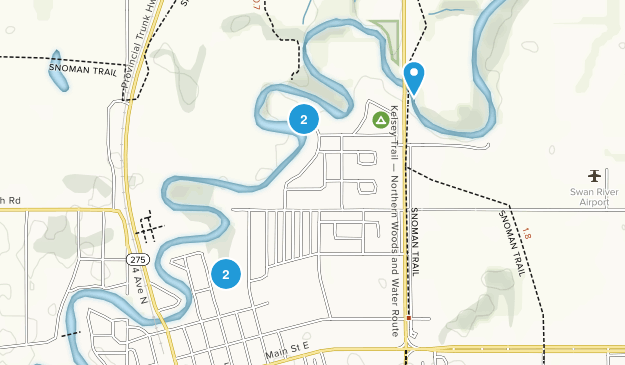 Swan River, Manitoba Forest Map