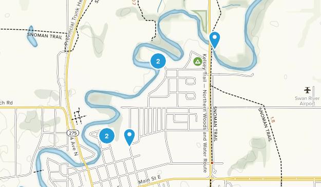 Swan River, Manitoba River Map