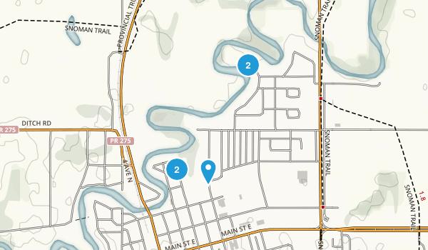 Swan River, Manitoba Trail Running Map