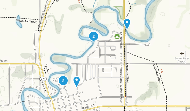 Swan River, Manitoba Walking Map