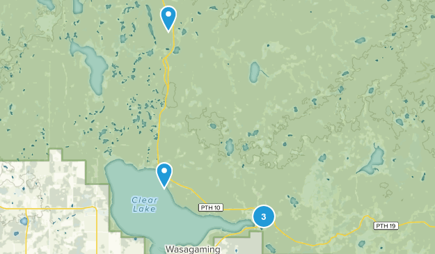 Wasagaming, Manitoba Lake Map