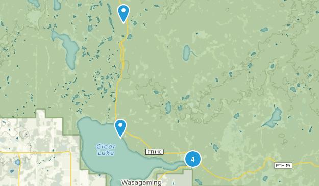Wasagaming, Manitoba Walking Map
