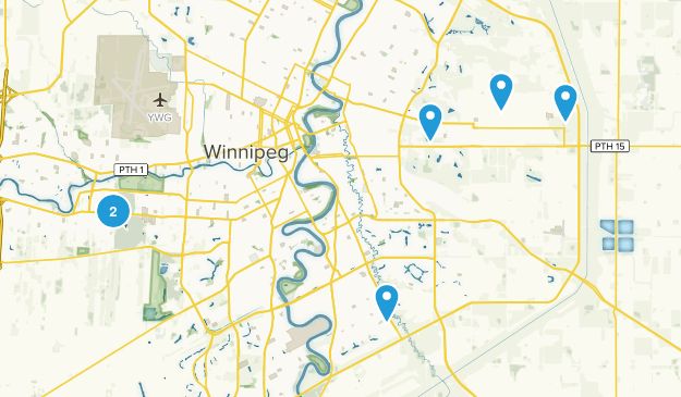 Winnipeg, Manitoba Hiking Map