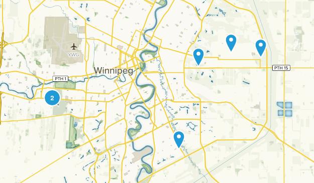 Winnipeg, Manitoba Trail Running Map