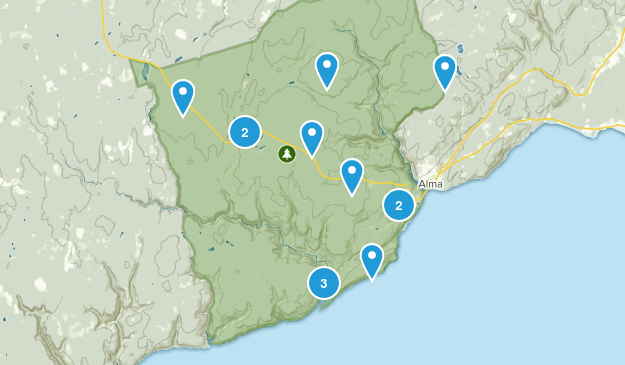 Alma Parish, New Brunswick Forest Map
