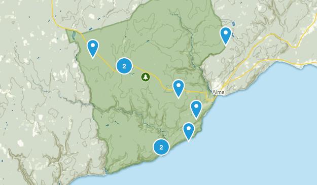 Alma Parish, New Brunswick Kid Friendly Map