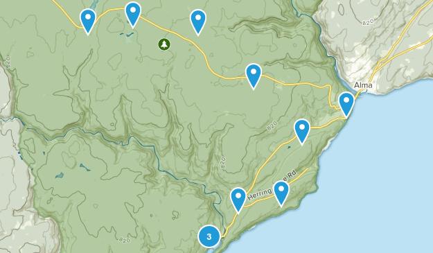 Alma Parish, New Brunswick Nature Trips Map