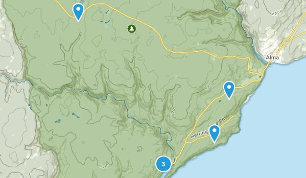 Alma Parish, New Brunswick Wild Flowers Map