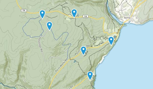 Mitchells Corner, New Brunswick Dogs On Leash Map