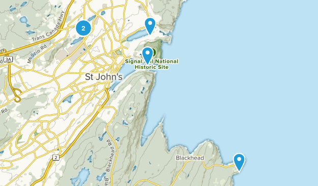 Saint John's, Newfoundland and Labrador Hiking Map