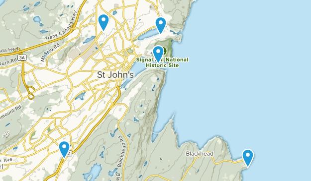 Saint John's, Newfoundland and Labrador Nature Trips Map