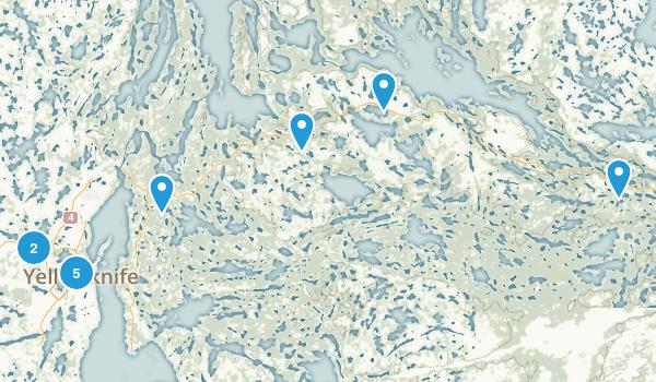 Yellowknife, Northwest Territories Lake Map