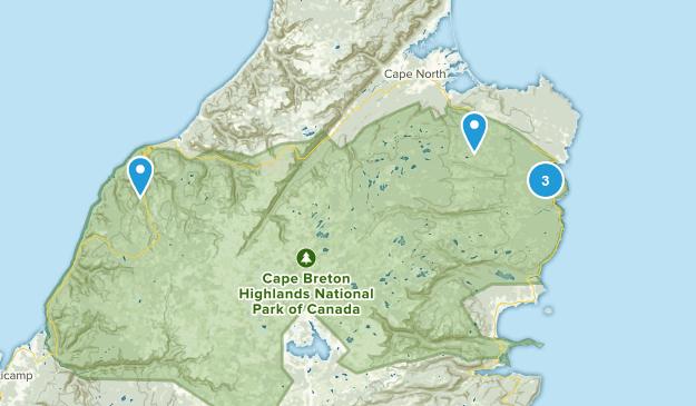 Cape Breton Highlands National Park, Nova Scotia Hiking Map