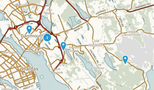 Dartmouth, Nova Scotia Lake Map
