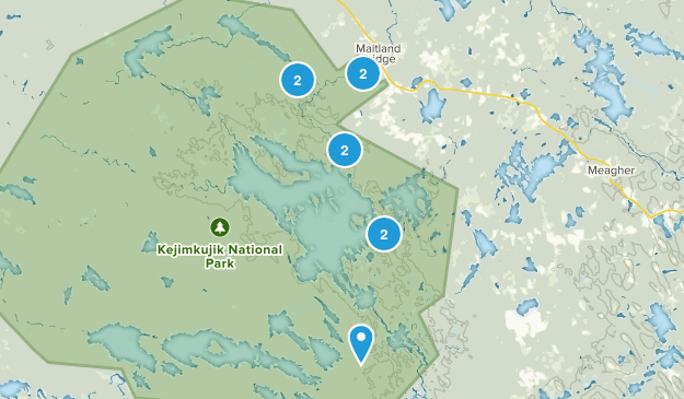 Maitland Bridge, Nova Scotia Bird Watching Map