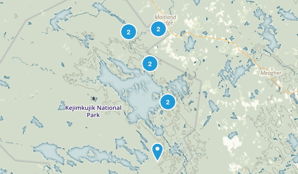 Maitland Bridge, Nova Scotia Hiking Map