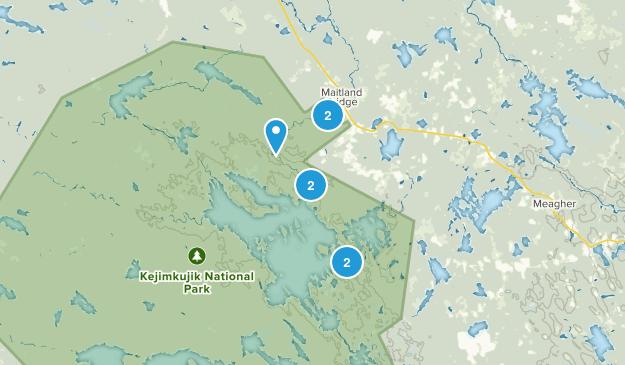 Maitland Bridge, Nova Scotia Kid Friendly Map