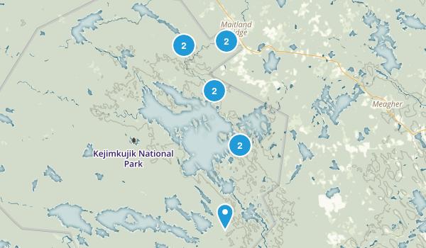 Maitland Bridge, Nova Scotia Walking Map