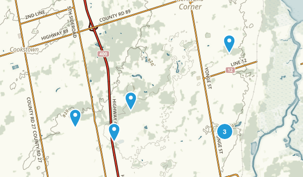 Bradford West Gwillimbury, Ontario Hiking Map