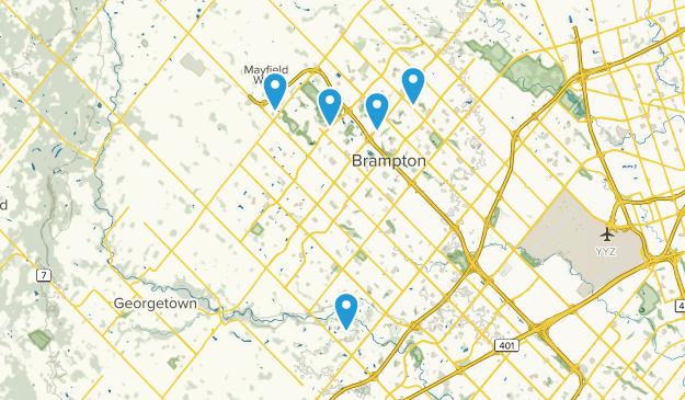 Brampton, Ontario Hiking Map