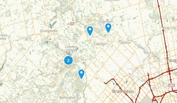 Caledon, Ontario Nature Trips Map