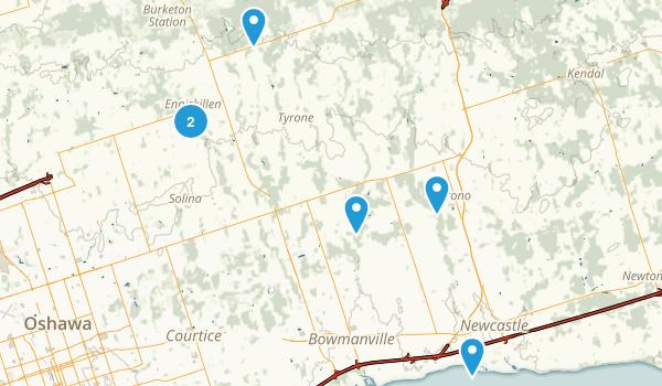 Clarington, Ontario Nature Trips Map