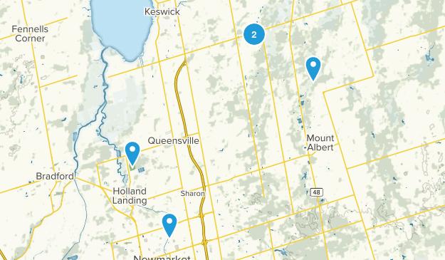 East Gwillimbury, Ontario Mountain Biking Map