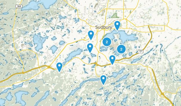 Greater Sudbury, Ontario Lake Map