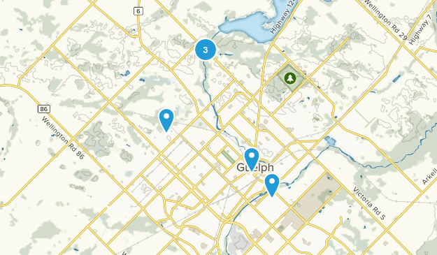 Guelph, Ontario Dogs On Leash Map
