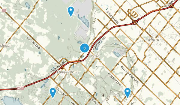 Halton, Ontario Birding Map