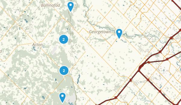 Halton Hills, Ontario Nature Trips Map