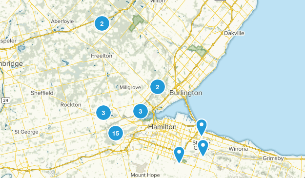 Hamilton, Ontario Views Map
