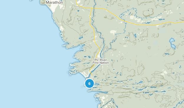 Heron Bay, Ontario Hiking Map