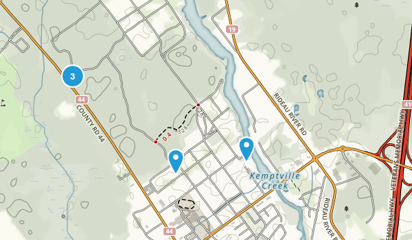 Kemptville, Ontario Trail Running Map