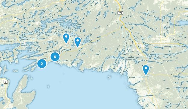 Killarney, Ontario Hiking Map
