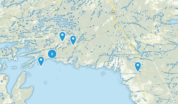 Killarney, Ontario Lake Map