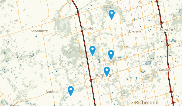King, Ontario Hiking Map
