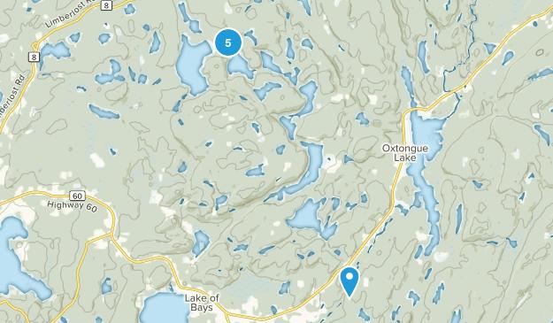 Lake of Bays, Ontario Hiking Map