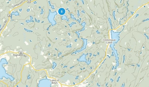 Lake of Bays, Ontario Lake Map